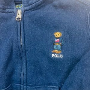 Vintage Polo Bear Polo Ralph Lauren Kids Hoodie 3T